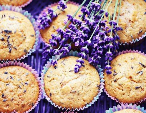 Lavendel muffins kuchen