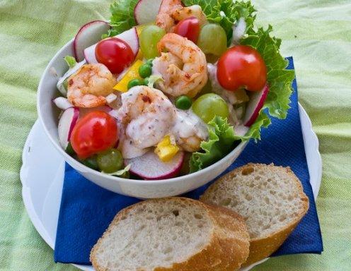 Salat Weihnachten.Shrimpscocktail