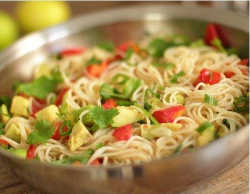 Spaghetti à la Guacamole