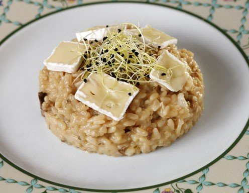 steinpilz risotto mit brie k se rezept. Black Bedroom Furniture Sets. Home Design Ideas