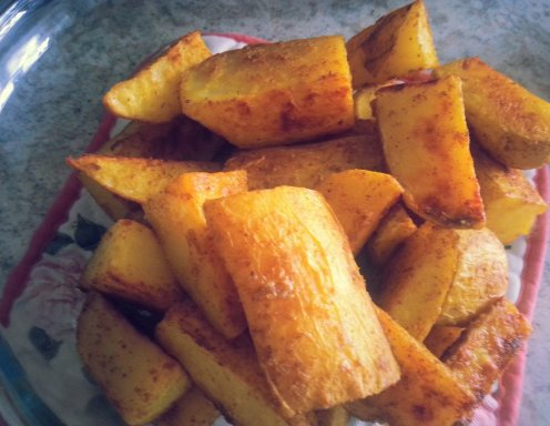 Curry Potato Wedges