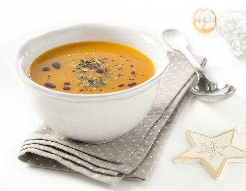 Rezept für Kürbis-Kokosnuss-Curry-Suppe