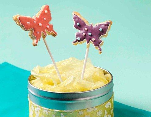 Schmetterlings Keks-Pops - Rezept - ichkoche.at