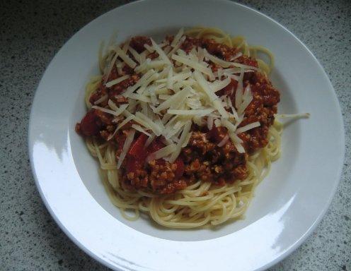 vegane spaghetti bolognese rezept. Black Bedroom Furniture Sets. Home Design Ideas