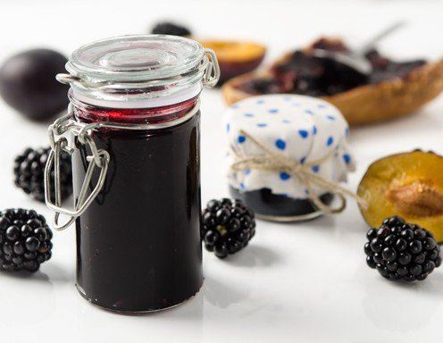 brombeer zwetschken marmelade rezept. Black Bedroom Furniture Sets. Home Design Ideas