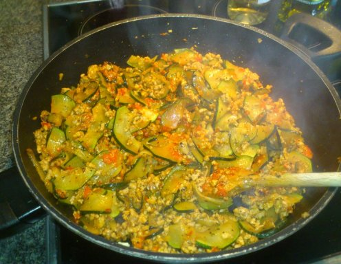 Zucchini Eintopf Mit Faschiertem Rezept Ichkocheat