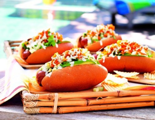 Kalifornische Hot Dogs