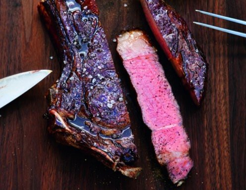American Rib-Eye-Steak mit Bourbon-Lack Rezept
