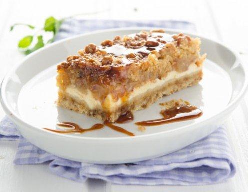 Cheesecake Apfelstreuselkuchen Rezept Ichkocheat