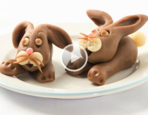 Video - Süßer Hase aus Marzipan
