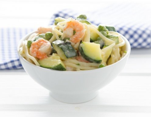 One Pot Pasta mit Shrimps Rezept