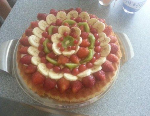 Obstkuchen Mit Rührteigboden Rezept Ichkocheat