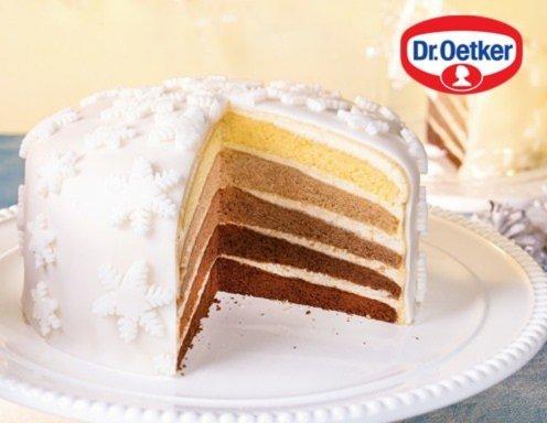 Weihnachtliche ombre torte