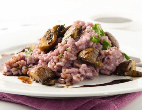 champignon risotto mit rotwein rezept. Black Bedroom Furniture Sets. Home Design Ideas
