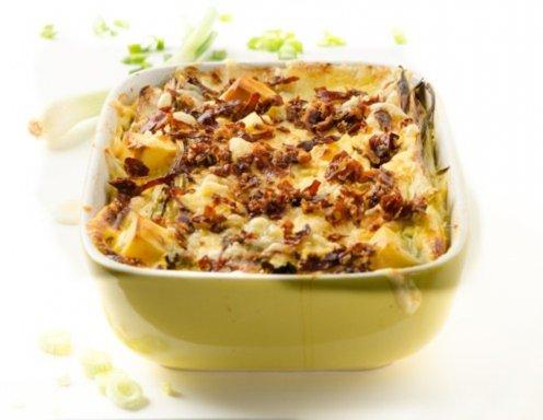 Rezept auflauf kartoffeln hackfleisch lauch