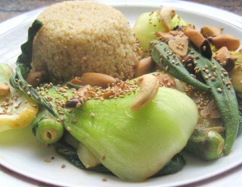 Pak choi mit okraschoten und kräuterseitlingen rezept ichkoche.at