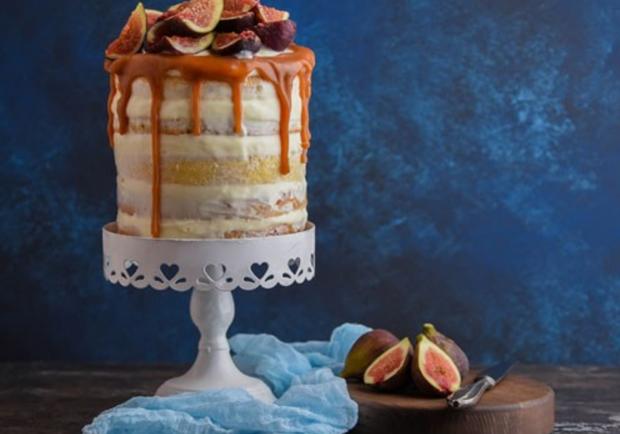 Naked Cake mit Feigen und Ziegenkäse - Rezept - ichkoche.at