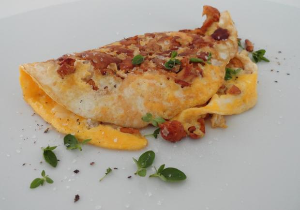 omelett mit eierschwammerln rezept. Black Bedroom Furniture Sets. Home Design Ideas