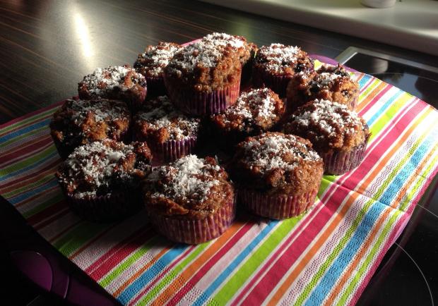 heidelbeer muffins ohne mehl und zucker rezept. Black Bedroom Furniture Sets. Home Design Ideas