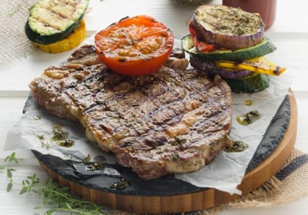 Steak Mit Grillgemüse Rezept Ichkocheat