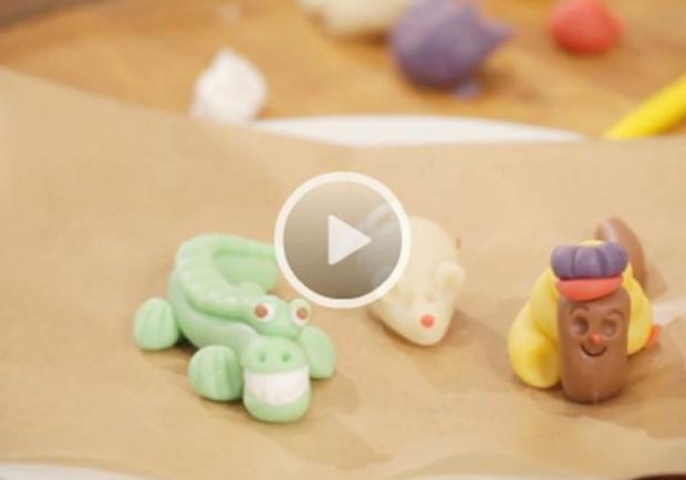 Marzipanfiguren baby selber machen