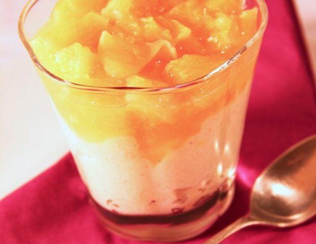 Orangen grieß dessert aus dem dfgarer