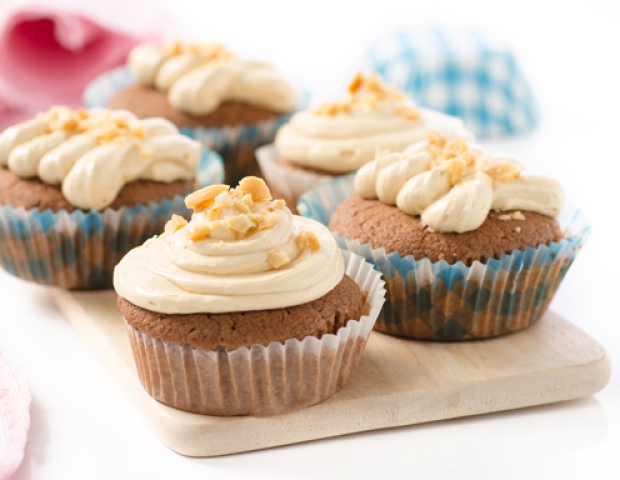 schokoladen erdnussbutter muffins rezept. Black Bedroom Furniture Sets. Home Design Ideas