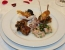 Kozice z ingverjem, algami nori in čilijevim želejem