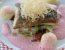 Jeseter s zeljem, cmoki in omako iz rdeče pese