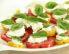 Paradižnikova solata z vanilijevim prelivom in rikoto