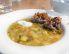 Krompirjeva juha z gobami in ajdovimi žganci